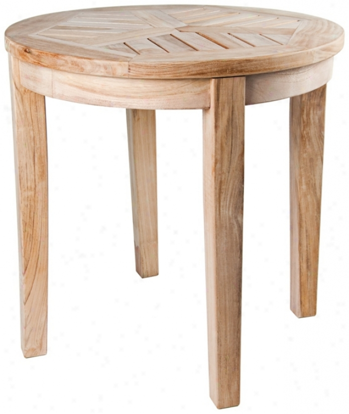 Nantucket Teak Wood Outdoor Make full Occasional Side Table (u1314)