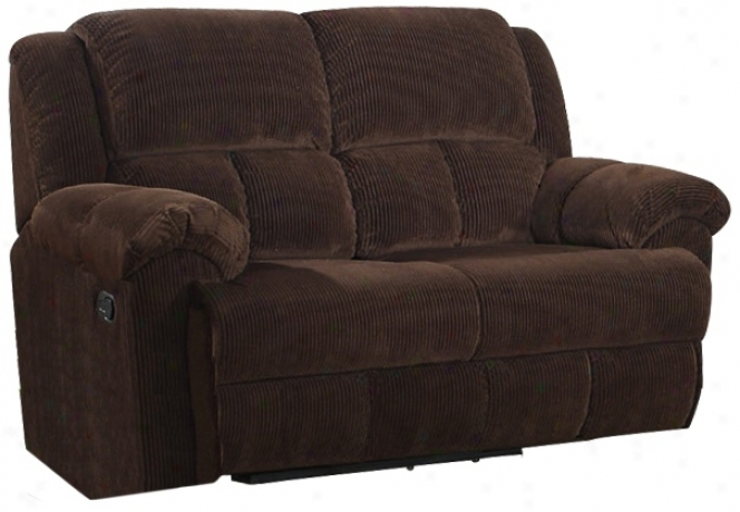 Napa Chocolate Corduroy Reclining Love Seat (w1348)