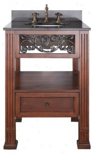 "Napa Dark Cherry Finish 24"" Wide Sink Vanity (r7017)"