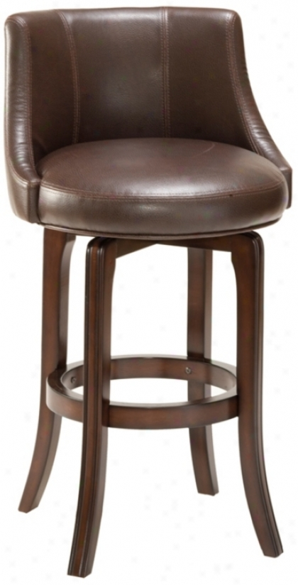 "Napa Dale Brown 25"" High Swivel Counter Stool (p7491)"