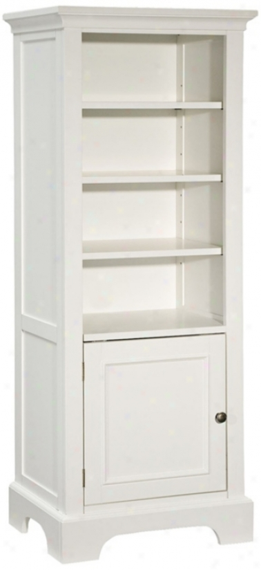 Naples White Pier Cabinet/book Case (u0531)