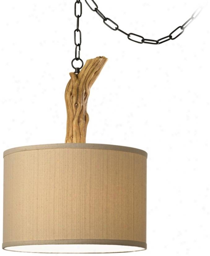 National Geographic Driftwood Pendant Swag Light (u9717)
