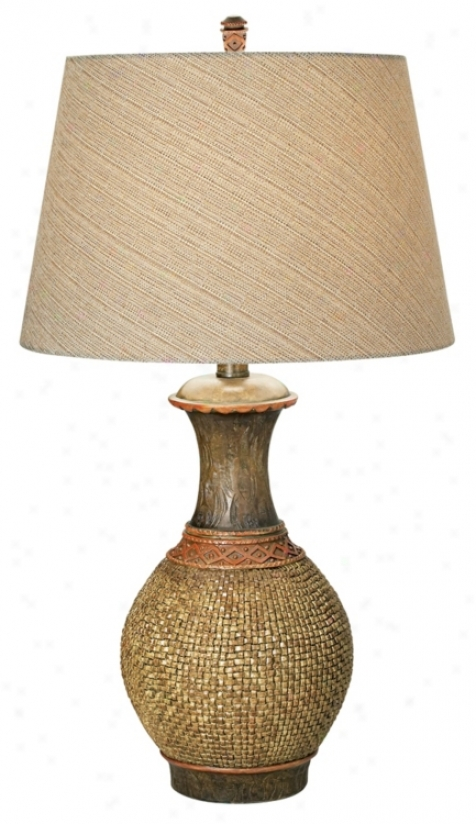 National Geographic Palm Vessel Table Lamp (p3920)