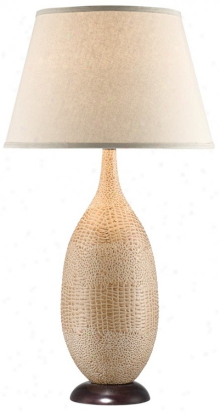 National Geographic Palmetto Faux Croc Tall Table Lamp (u1276)