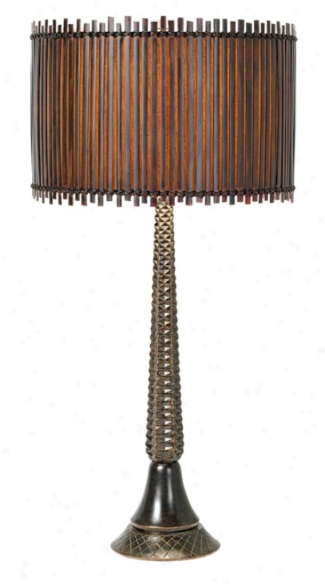 National Geographic Tropic Winds Bali Table Lamp (h1559)