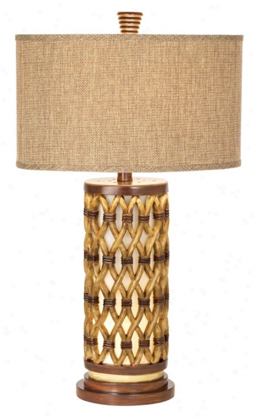 National Geographic Tro0cial Bamboo Night Light Table Lamp (h1539)