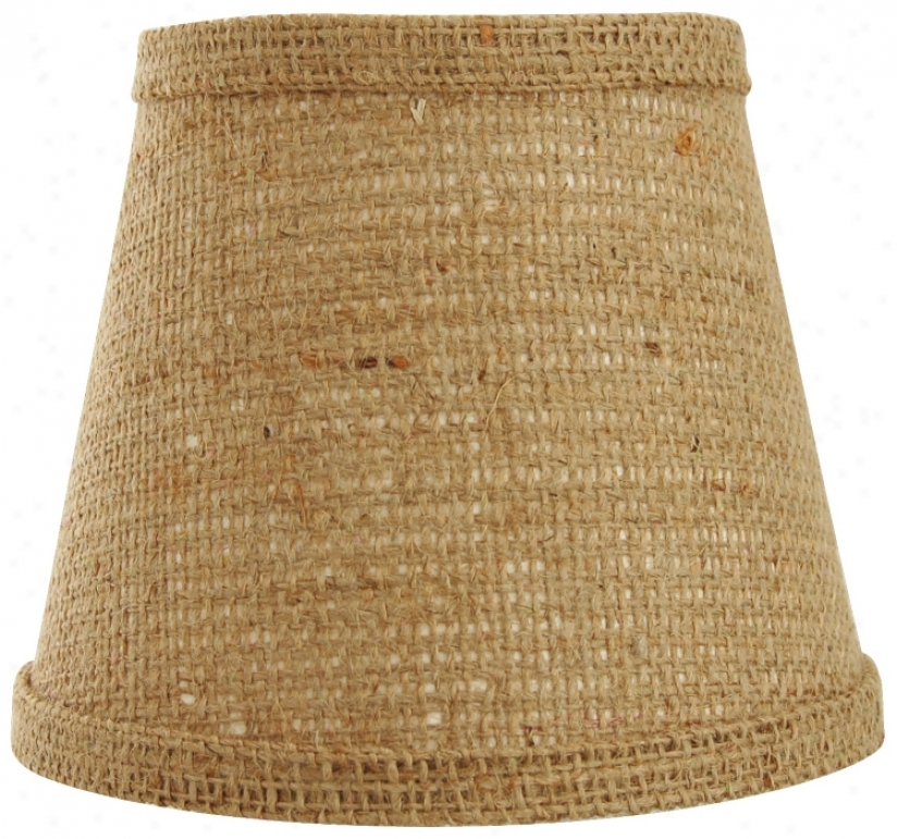 Natural Burlap Lamp Shade 10x18x13 (spider) (w0130)