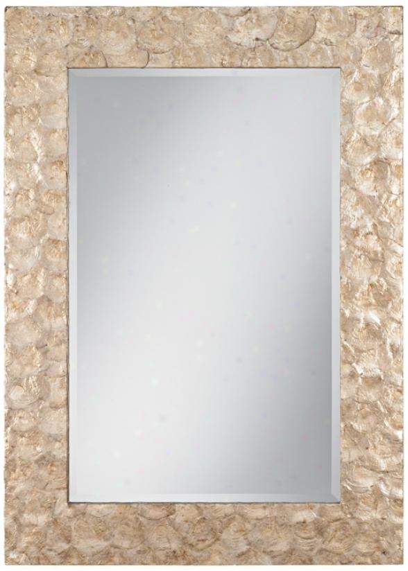 """Natural Capiz Shell 40"""" High Wall Mirro5 (r1658)"""