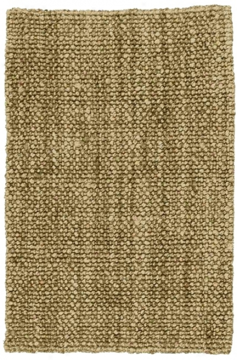Natural Chunky Loop Jute Area Rug (f4369)