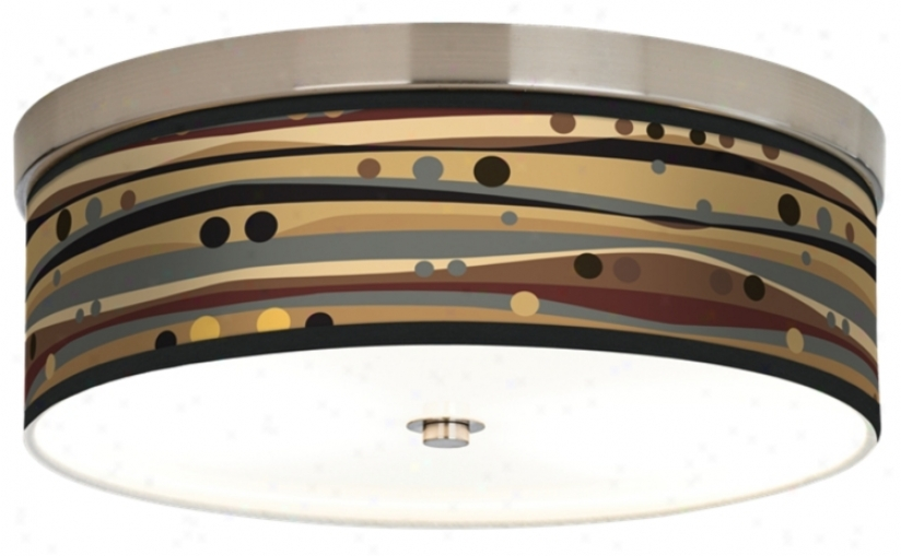 Natural Dots And Waves Giclee Energy Efficient Ceiling Light (h8796-j1356)