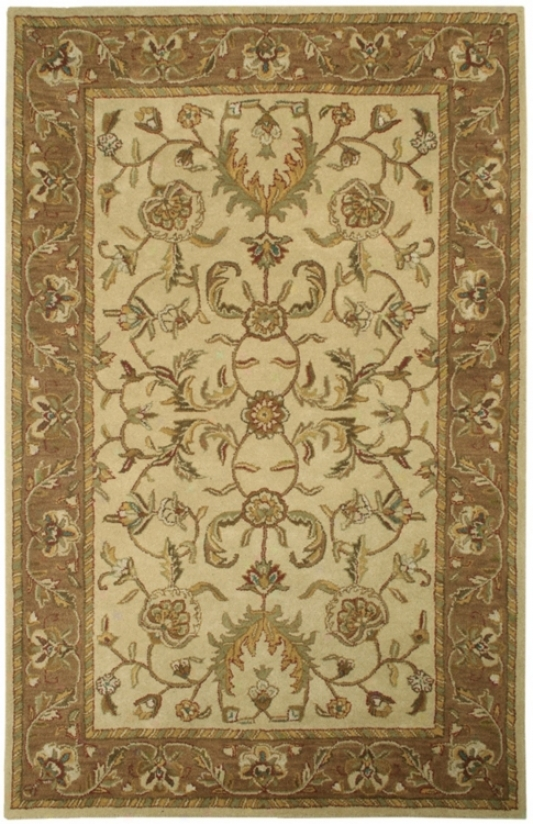 Natural Wool Collection Barrowby 2'x3' Area Rug (k7353)
