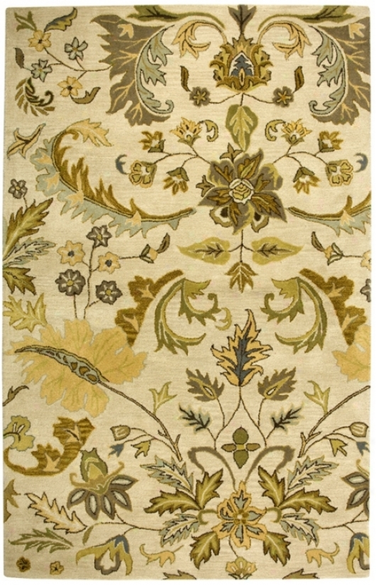 Natural Wool Collwction Corsham Beige 8'x10' Area Rug (t7220)