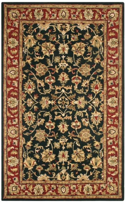 "Natural Wool Collection Dunnington Runner 2'6""x8' Area Rug (k6795)"