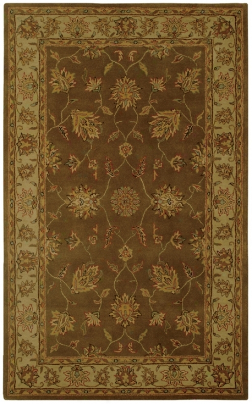 "Natural Wool Collection Grantham Brown 2'6""x8' Runber (k6871)"