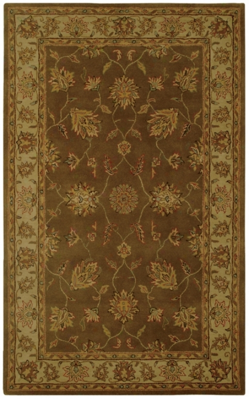 Natural Wool Collection Grantham Brown 8'x10' Area Rug (k6870)