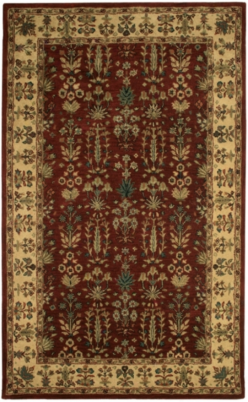 Natural Wool Collection Mluberry Round 8'x8' Area Rug (k6788)