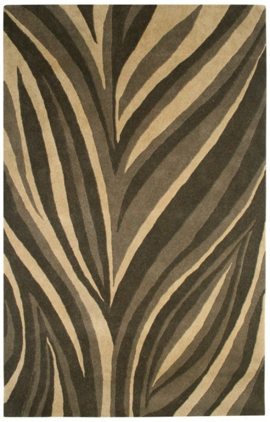 Natural Wool Collection Parting Lines 2'x3' Area Rug (k6047)