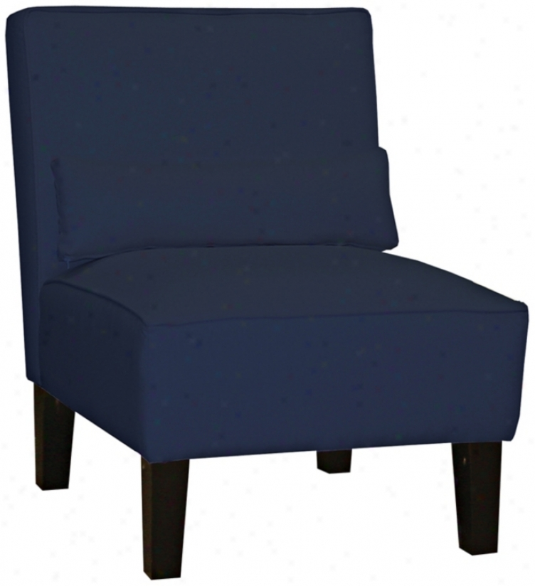 Navy Twill Armless Chair (n6096)