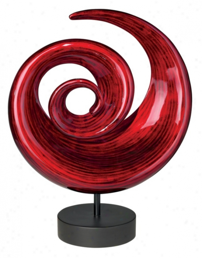 Neonn Lacquer Circle Swirl Sculpture (88385)