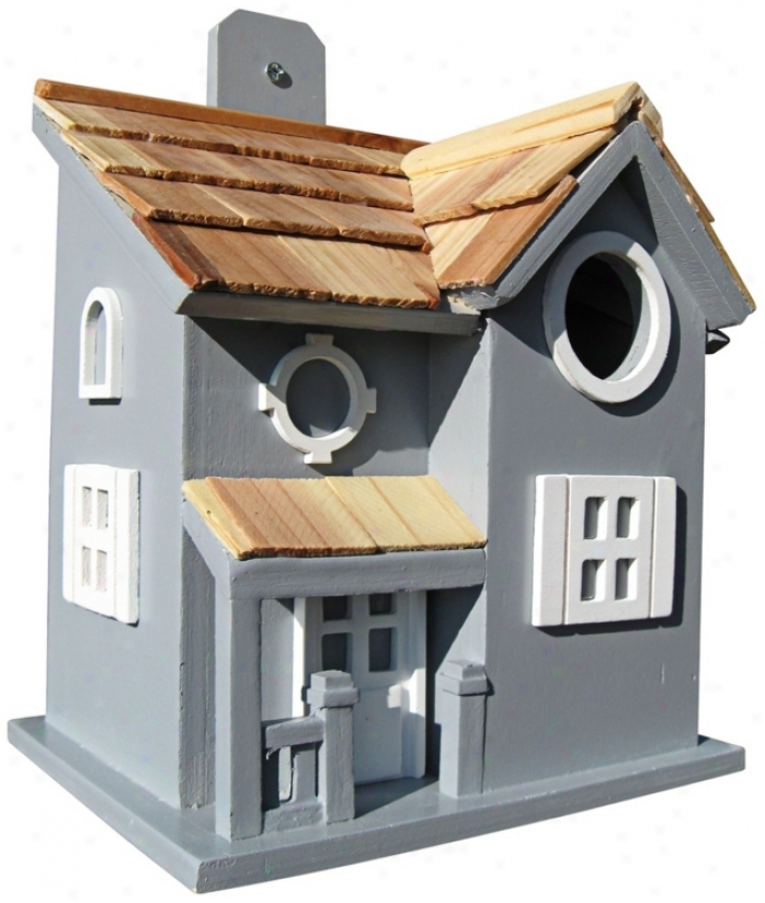 Nestling Cottage Blue Birdhouse (t3211)