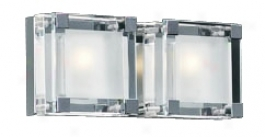 "Nice Cube Frosted Glass 12"" Wide Ada Bathroom Light (h4259)"
