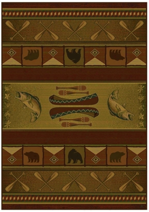 "North Sky Collection Colorado Lodge 1'11""x7'4"" Runner (p8098)"