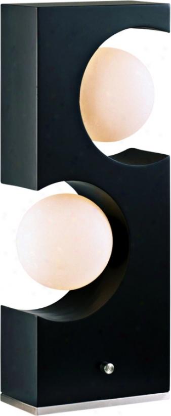 Nova Dark Brown Cutout  Accnet Table Lamp (93591)