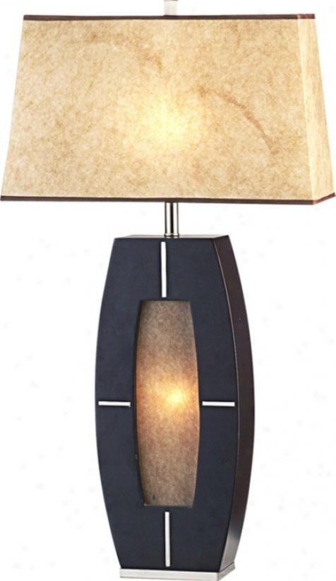 Nova Delacy Wood And Parchment Night Light Table Lamp (88257)