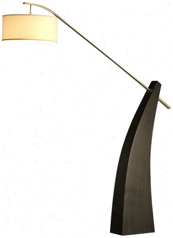 Nova Tusk Pecan Wood Floor Lamp (r0410)