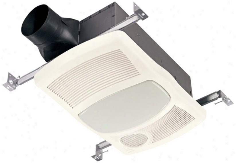 Nutone 100 Cfm Heater And Cfl Light Bath Exhaust Fan (n5294)