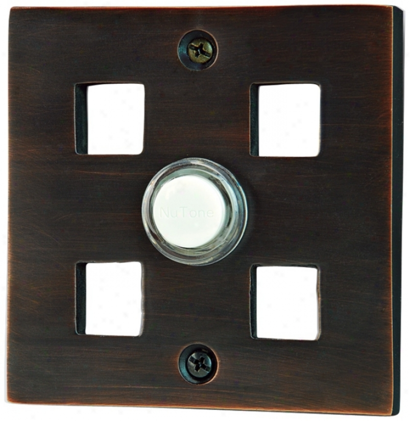 Nutone 4-square Orb Wired Doorbell Push-button (t0153)