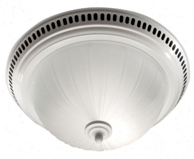 Nutone Frosted Glass Bathroom Exhaust Fan With Buoyant (25599)
