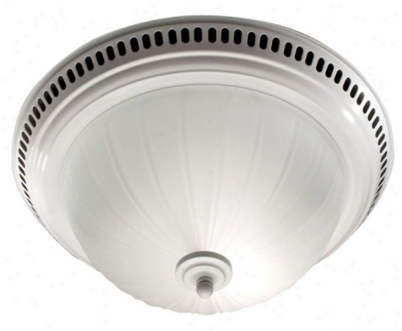 Nutone Glossy White Bathroom Exhaust Fan With Light (25765)