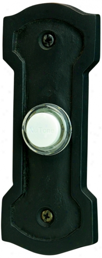 Nutone John Henry Black Wired Push-button Doorbell (t0149)