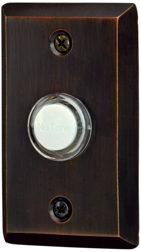 Nutone Oil-rubbed Bronze Wied Push-button Doorbell (t0126)