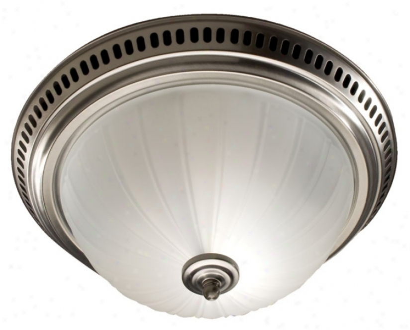 Nutone Satin Nickel Batthroom Exhaust Fan With Lught (25488)