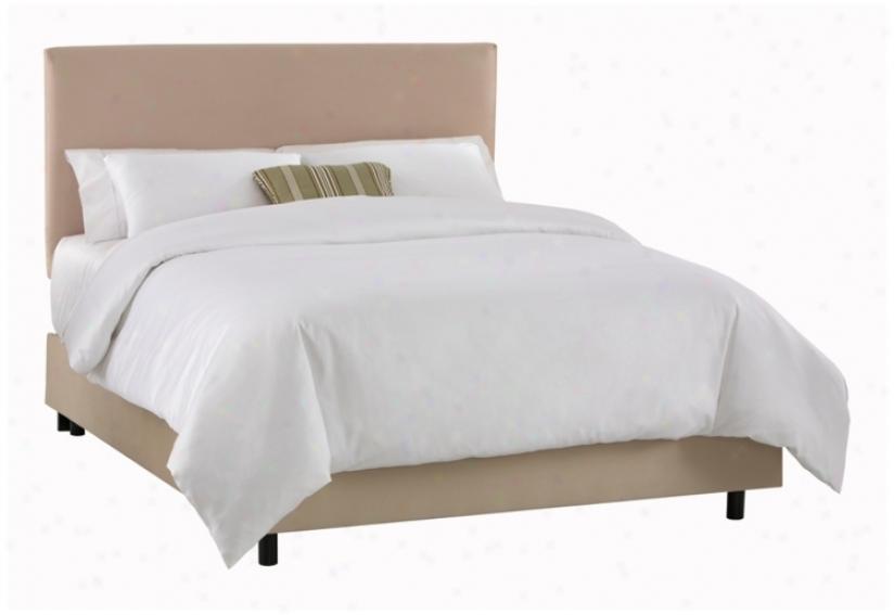 Oatmeal Microsuede Slip Cover Bed (cal Kin) (p3006)