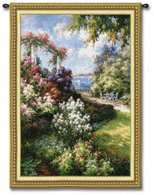 "Oceanside Garden 53"" High Wall Tapestry (j8640)"