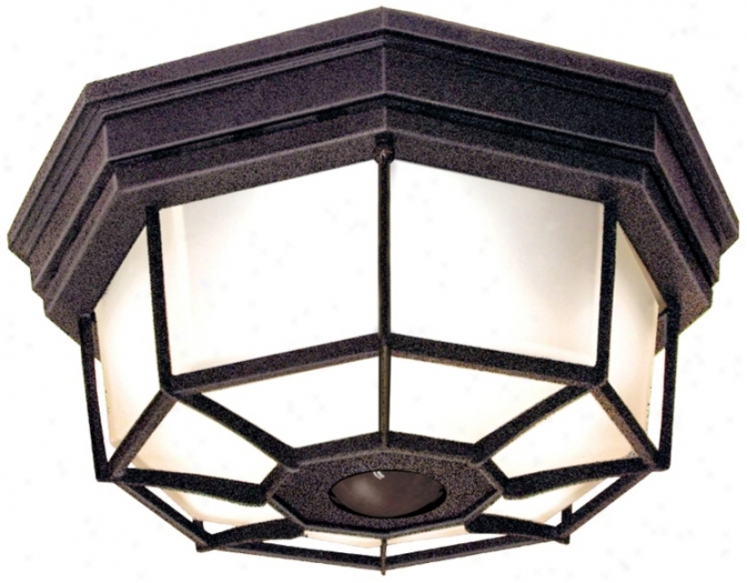 Eight-sided Gather ~ Energy Star® Outdoor Ceiling Light (h7012)