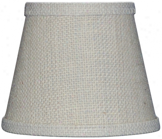 Most distant Pale Burlap Lamp Shade 6x12x8 (spider) (r9352)