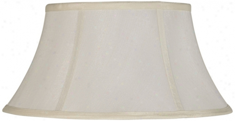 Off-white Modified Drum Lamp Shade 11x18x9.75 (spider) (v9736)