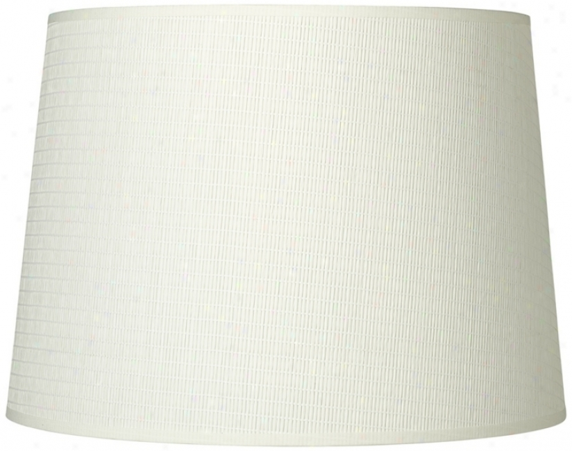 Off-white Paper Weave Drum Shade 12x14x10 (spider) (t6522)