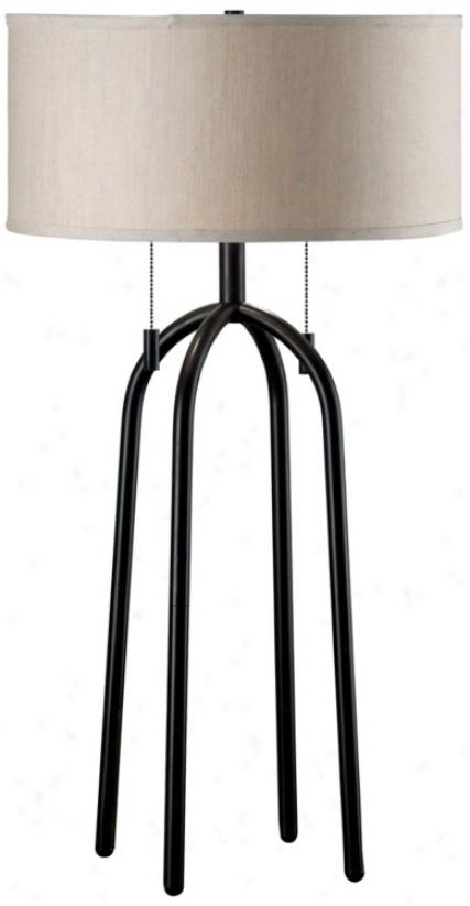 Oil-rubbed Brojze Quadratic Table Lamp (n5692)