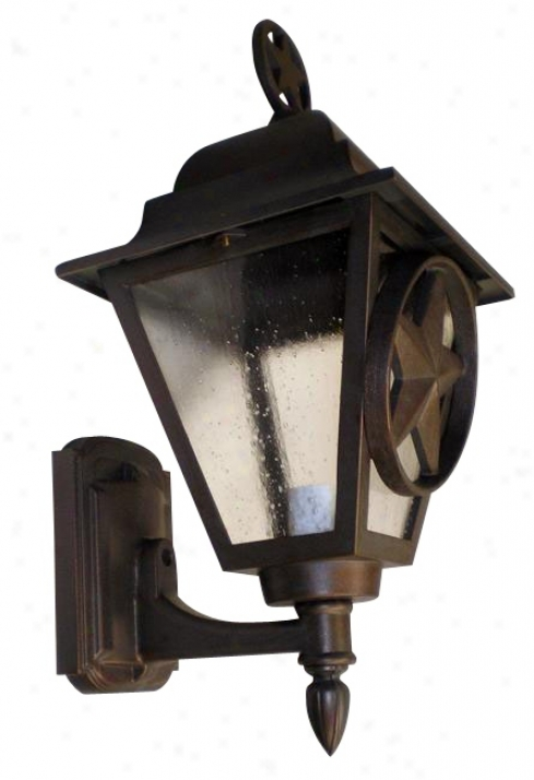 "Old Iron Polishing 19"" High Lantern (91881)"