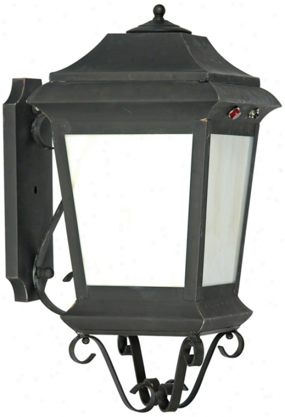 "Old World Finish 19"" High Wall Lantern (12980)"