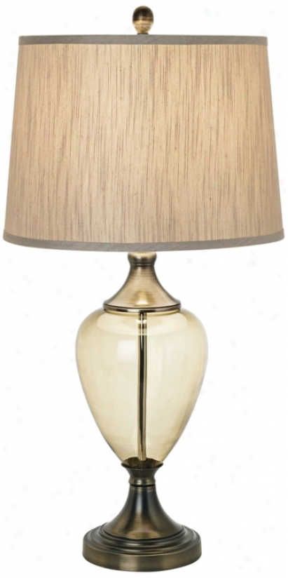 Olive Glow Grand Table Lamp (r5980)