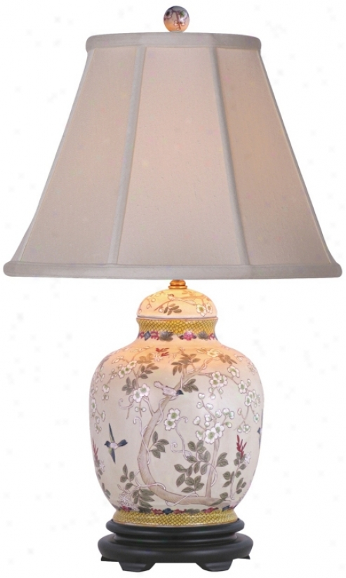Olive Tree China Jar Table Lamp (g7033)