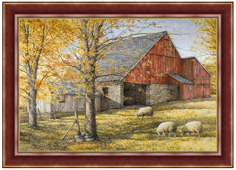 "On The Farm 33"" Wide Wall Art (j6052)"