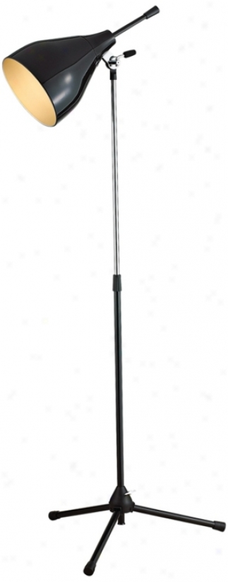 Onscreen Black And Chrome Finish Floor Lamp (r4690)