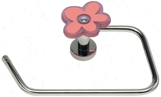 Oops-a-daisy Pink Toilet Paper Or Towel Holder (78110)
